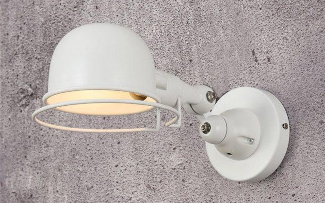 Retro nástenné svietidlo France na žiarovky E14 v bielej farbe 670x420 - Retro nástenné svietidlo France na žiarovky E14 v bielej farbe