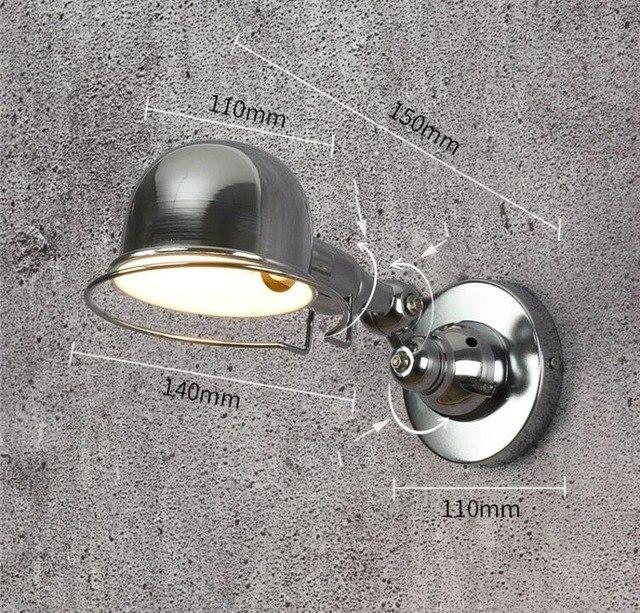 Retro nástenné svietidlo France na žiarovky E14 v striebornej farbe. - Retro nástenné svietidlo France na žiarovky E14 v striebornej farbe
