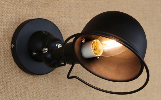 Retro nástenné svietidlo France na žiarovky E142 670x420 - Retro nástenné svietidlo France na žiarovky E14 v čiernej farbe