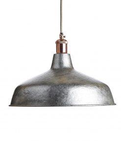 Ručne kované závesné svietidlo INDUSTRIAL STEEL v oceľovej farbe
