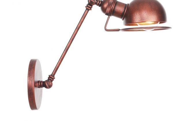 Vintage nástenná lampa Masel20 v staro medenej farbe 670x420 - Vintage nástenná lampa Masel20 v staro medenej farbe
