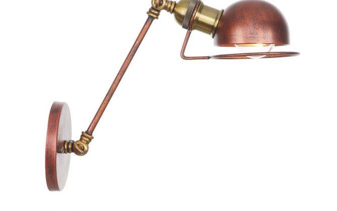 Vintage nástenná lampa Masel20 v zlato medenej farbe 670x420 - Vintage nástenná lampa Masel20 v zlato medenej farbe