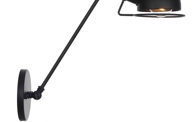 Vintage nástenná lampa Masel30 v čiernej farbe 670x420 - Vintage nástenná lampa Masel30 v čiernej farbe
