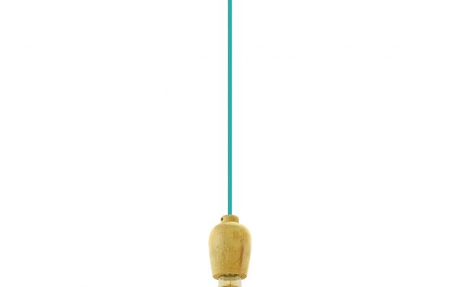 Závesné drevené svietidlo s textilným káblom v modrej farbe. 670x420 - Závesné drevené svietidlo s textilným káblom v modrej farbe