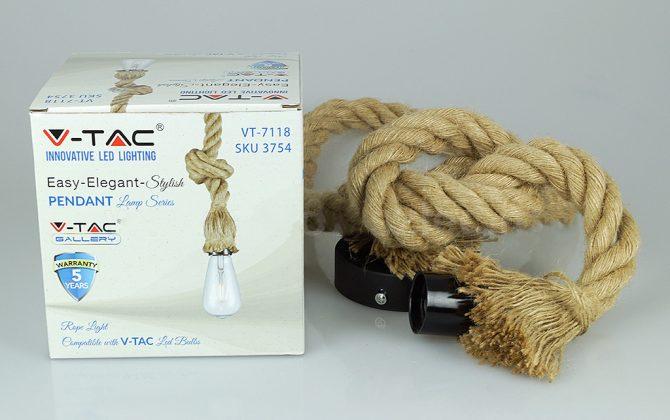 Závesné lanové svietidlo s dĺžkou lana 150cm V TAC. 670x420 - Závesné lanové svietidlo s dĺžkou lana 150cm, V-TAC