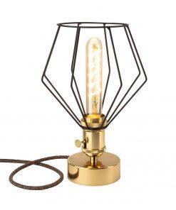 Handmade stolová historická lampa GOLDEN s otočným spínačom