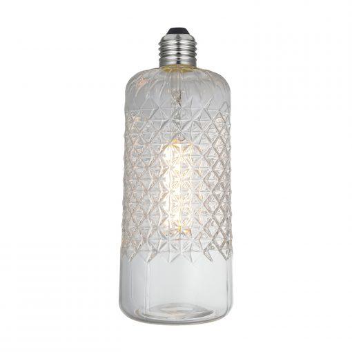 LED Filament kryštálová žiarovka DEMETRA, E27, 6W, 600lm