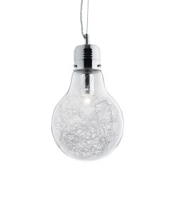 Sklenené kreatívne svietidlo v tvare žiarovky LUCE MAX SP1 SMALL | Ideal Lux