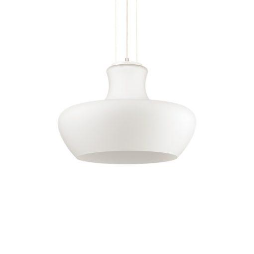 Dizajnové sklenené svietidlo ALADINO SP1 D45 s bielym tienidlom