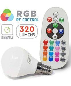 LED žiarovka na diaľkové ovládanie, 3.5W, E14, Studená biela