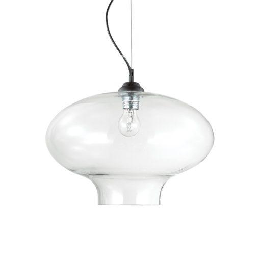 Sklenené svietidlo BISTRO' SP1 ROUND s čírym tienidlom