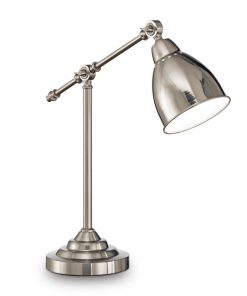 Vintage stolová lampa NEWTON TL1 v niklovej farbe | Ideal Lux