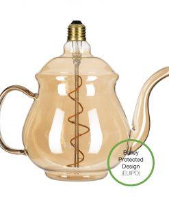 LED Žiarovka Čajník Earl Gold, E27, 4W, 2200K, 190lm, Stmievateľná   Bailey Lights