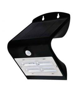 LED-solárne-nástenné-svietidlo-v-čiernej-farbe-Teplá-Denná-biela-3W-IP65-400lm