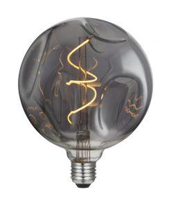 Vintage Filament žiarovka LUXURY G140, dymová - 5W, E27, 150lm, Stmievateľná, Teplá biela | Daylight Italia