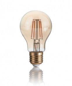 Žiarovka Filament CLASSIC so zlatým sklom, E27, 4W, 300lm, Teplá biela | Ideal Lux