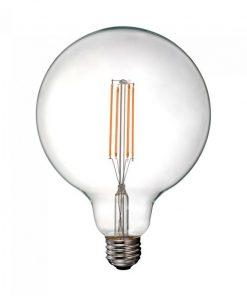 FILAMENT žiarovka - G125 CLEAR - E27, 12.5W, 1550lm, Teplá biela