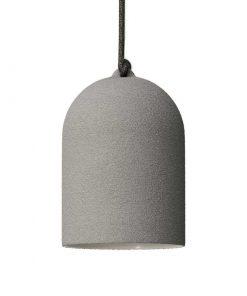 Urbanistické závesné svietidlo s keramickým tienidlom Bell XS v cementovej farbe