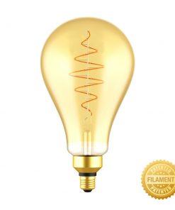 Zlatá LED žiarovka - CROISSANT A160 - 8.5W, E27, Stmievateľná, 2000K, 600lm | Daylight Italia