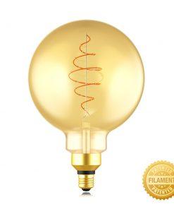 Zlatá LED žiarovka - CROISSANT G200 - 8.5W, E27, Stmievateľná, 2000K, 600lm | Daylight Italia
