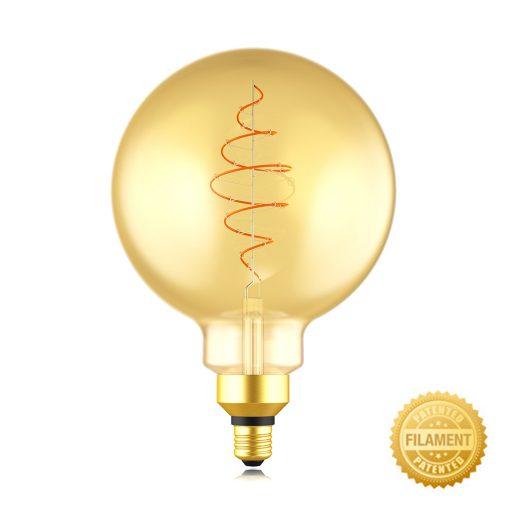 Zlatá LED žiarovka - CROISSANT G200 - 8.5W, E27, Stmievateľná, 2000K, 600lm   Daylight Italia