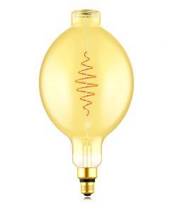 Zlatá LED žiarovka - XXL CROISSANT B180 - 8.5W, E27, Stmievateľná, 2000K, 600lm