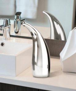 Inteligentný automatický dávkovač gélu a mydla na ruky v chrómovej farbe
