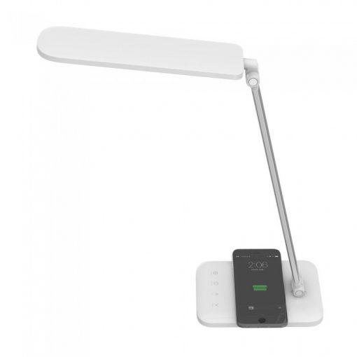 LED Stolová lampa s bezdrôtovou nabíjačkou v bielej farbe, 16W, 1000lm