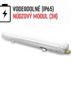 Pracovné stropné a nástenné svietidlo vybavené batériou a núdzovým modulom