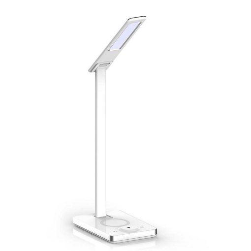 Stolová LED lampa s bezdrôtovou nabíjačkou v bielej farbe, 5W, 800lm