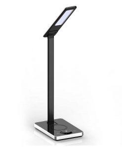 Stolová LED lampa s bezdrôtovou nabíjačkou v čiernej farbe, 5W, 800lm