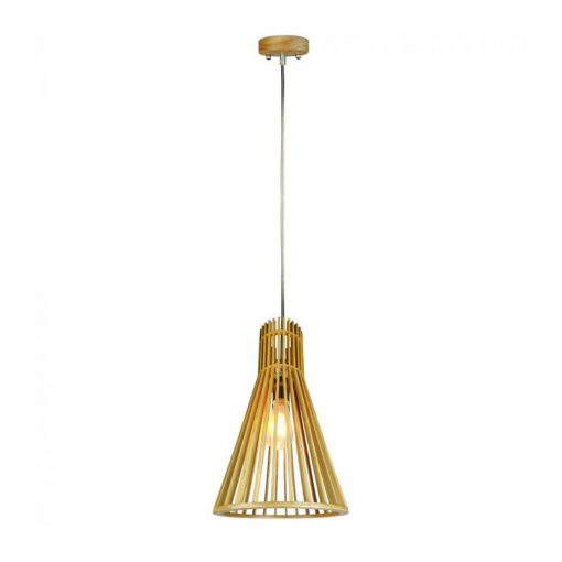 Závesné kreatívne drevené svietidlo - CONE