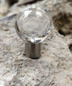 Úchytka na nábytok CRYSTAL SPHERE, číre sklo, 30mm priemer