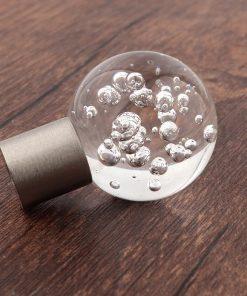 Úchytka na nábytok CRYSTAL SPHERE, sklo s bublinkami, 30mm priemer