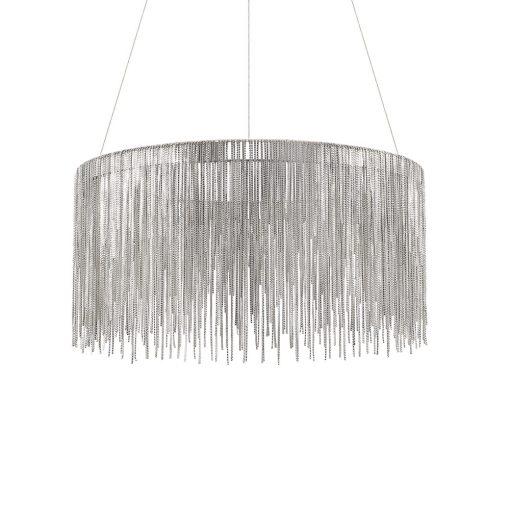 Chrómový luxusný luster s dekoratívnymi prvkami VERSUS SP ROUND | Ideal Lux