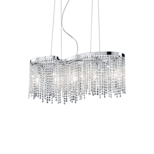 Elegantný sklenený luster AURORA SP5 | Ideal Lux