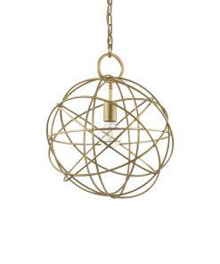 Kovový závesný luster v zlatej farbe KONSE SP1 | Ideal Lux