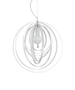 Kruhový závesný luster DISCO SP1 v bielej farbe