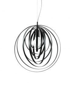 Kruhový závesný luster DISCO SP1 v čiernej farbe | Ideal Lux