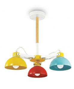 Závesné farebné detské svietidlo TITTI PL3 | Ideal Lux