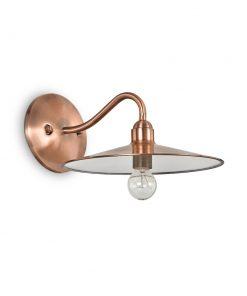 Historické nástenné svietidlo v medenej farbe CANTINA AP1 | Ideal Lux