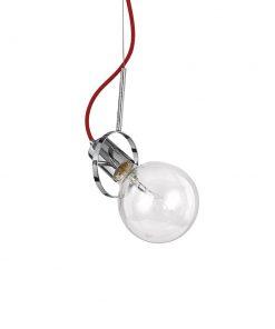 Moderné svietidlo v chrómovej farbe RADIO SP1. Chrómová kovová stropná rozeta a objímka