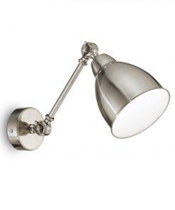 Nástenná retro lampa v niklovej farbe NEWTON AP1 | Ideal Lux