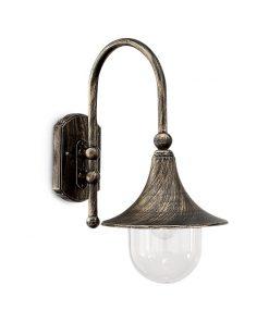 Nástenné vonkajšie svietidlo v antickej čiernej farbe IP43, CIMA AP1 | Ideal Lux