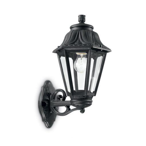 Vonkajšia lampa v klasickom štýle, čierna farba, IP44, ANNA AP1 BIG | Ideal Lux