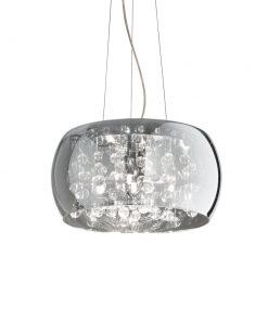 Závesný luster s dymovým skleneným tienidlom AUDI-80 SP5 | Ideal Lux.