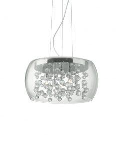 Závesný luster s transparentným skleneným tienidlom AUDI-80 SP5 | Ideal Lux