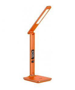 LED Stolová lampa s displejom v pomarančovej farbe (kalendár, dátum, čas, teplota, budík), 6W, 350lm | Avide