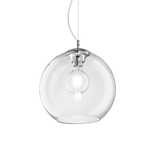 Moderný luster so sférickým difúzorom TRANSPARENT NEMO SP1 D40 | Ideal Lux