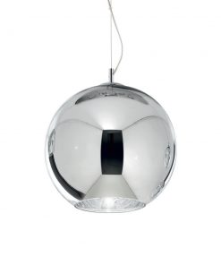 Moderný luster so sférickým difúzorom v chrómovej farbe NEMO SP1 D40 | Ideal Lux